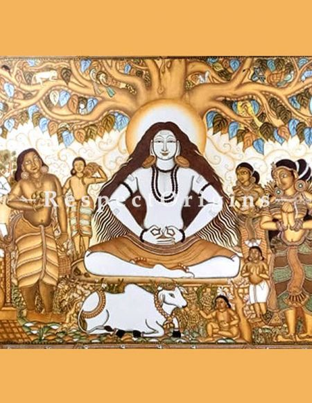 Buy Lord Pashupatinath- Shiva- Painting Kerala Mural Art72x96|RespectOrigins