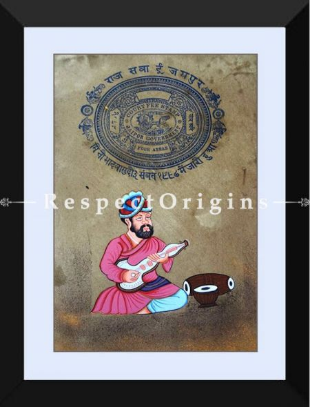The Charmer; Set of 2; Miniature Painting; Vertical; Traditional Rajasthani Wall Art