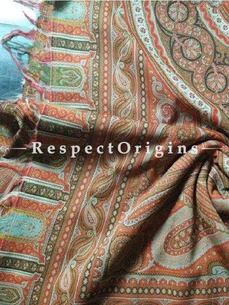 Buy Antique Brown Jamavaar Pashmina Kashmiri Mens Shawl At RespectOrigins.com