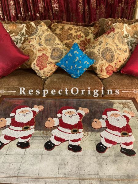 Ho! Ho! Ho! Santa Christmas Beaded Table Place Mat or Wall Decor Gift; RespectOrigins.com