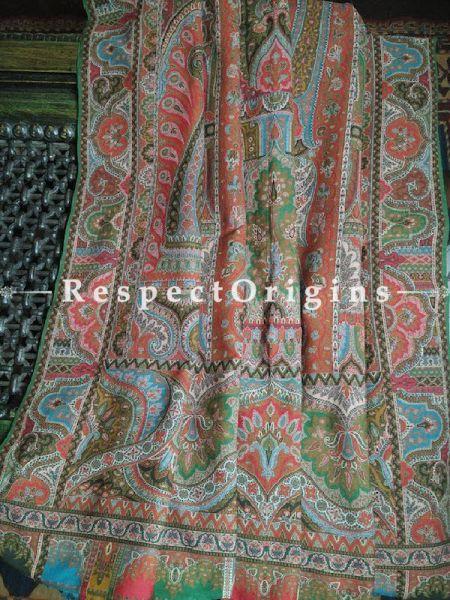 Buy Antique Jamavaar; Verdant Green Kashmiri Mens Shawl At RespectOrigins.com