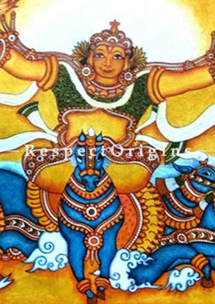Buy Lord Surya- Sun God- Painting-Kerala Mural Art 42x60;RespectOrigins
