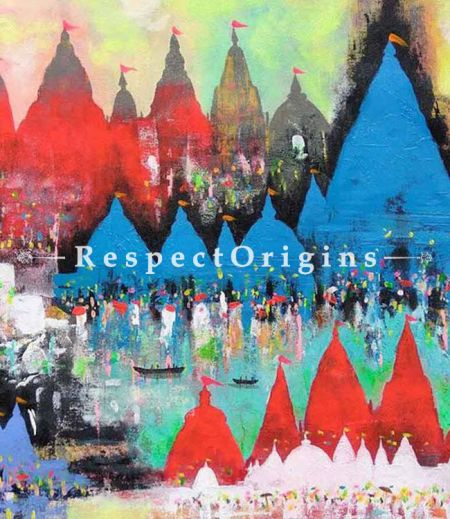 Buy Holy Journey - Acrylic Painting On Canvas - 25 X 25 At RespectOrigins.com