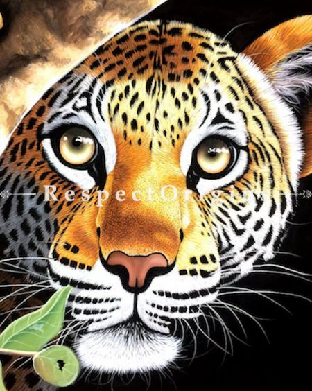 Majestic Tiger; Horizontal Acrylic Painting On Canvas 31X23 inches; RespectOrigins