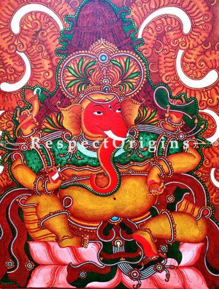 Buy Ekadanta - Ganesha Kerala Mural Art On Canvas 35x41|RespectOrigins