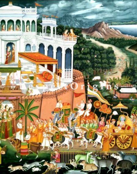 Buy Pichwai Painting of Procession of Neminathji 46 x 61 inches RespectOrigins