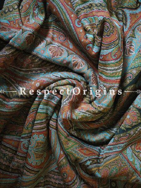 Buy Black and Autumnal Kashmiri Pashmina Jamavaar Ladies Shawl At RespectOrigins.com