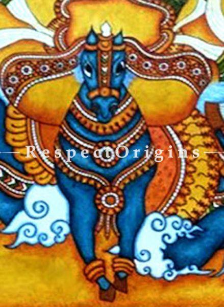 Lord Surya- Sun God- Painting-Kerala Mural Art 42x60 in Canvas Horizontal