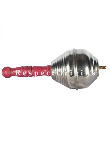 Single Handmade Steel Maracas Indian Folk Musical Instrument ; RespectOrigins.com