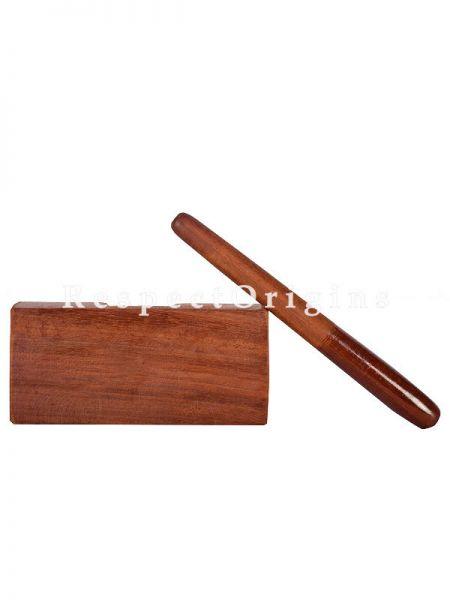 Handmade 2 Piece Thattuvanga Thalam; Bharatanatyam Dance Instruments Wooden Stick; RespectOrigins.com