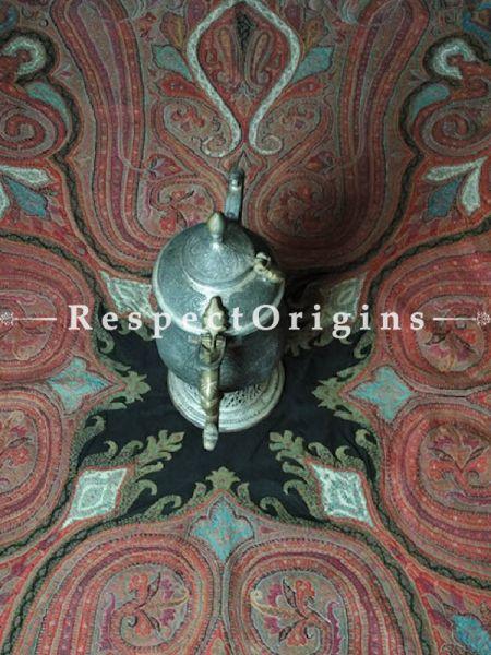 Buy Vintage Jamavaar; Red Paisleys Kashmiri Mens Shawl At RespectOrigins.com