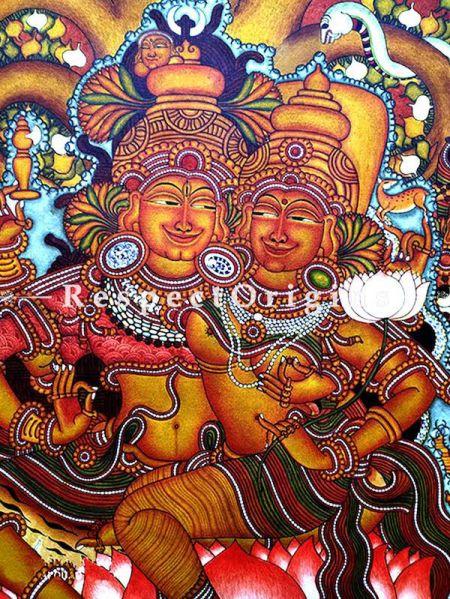 Buy Shakthipanjakshari - Shiva Family Kerala Mural Art - 45X32 inches;RespectOrigins