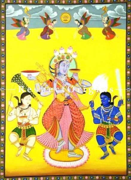 Pichwai Painting of Kali Maa With Kala And Gora Bhairav 48 x 66 inches RespectOrigins