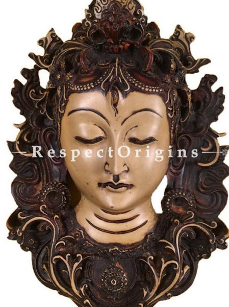 Buy Wall Mask; Wall Art; Handcrafted Lord Shiva; Marble; Beige; Size 7x4x12 in At RespectOrigins.com