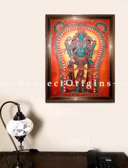 Guruvayurappan; Kerala Wall Mural Art Painting; 24x36 in