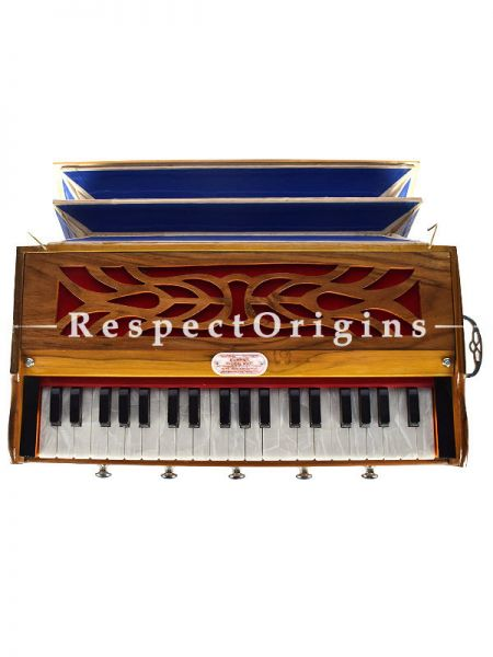 39 Keys Double Read Harmonium, Base Male Tone; Indian Musical Instruments; RespectOrigins.com