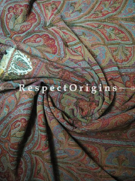 Buy Antique Kashmiri Jamavaar Pashmina; Garden of Eden Ladies Shawl At RespectOrigins.com