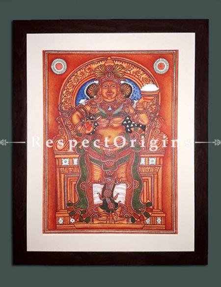 Buy Annapurna Devi - Goddess of Food- Kerala Mural Art On Canvas 19X25|RespectOrigins