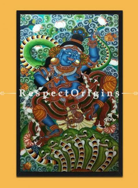 Buy Kaliavardhana - Krishna- Kerala Mural Art On Canvas 21X35;RespectOrigins