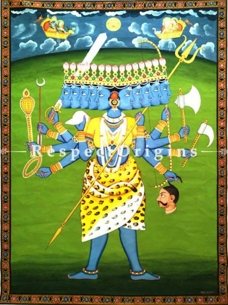 Traditional Pichwai Painting of Kali Maa 45 x 64 inches RespectOrigins