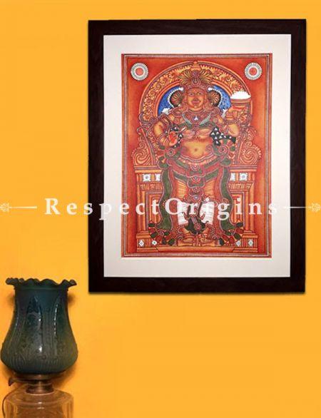 Annapurna Devi - Goddess of Food- Kerala Mural Art Painting On Canvas 19x25 in