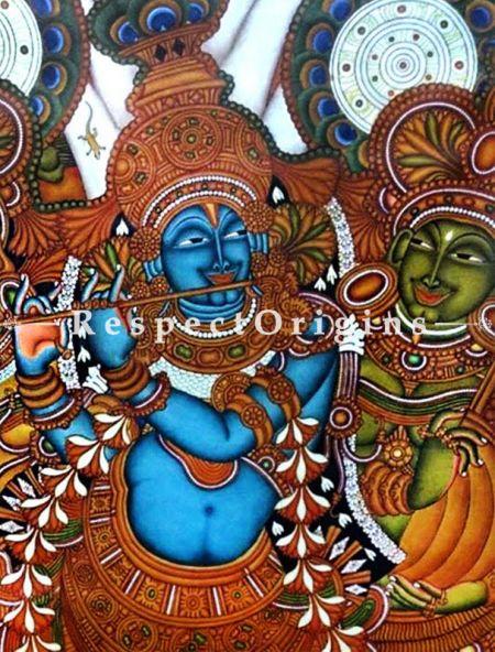 Buy Krishna Leela Kerala Mural Art; 32 X 45 inches; Chuvarchithram|RespectOrigins
