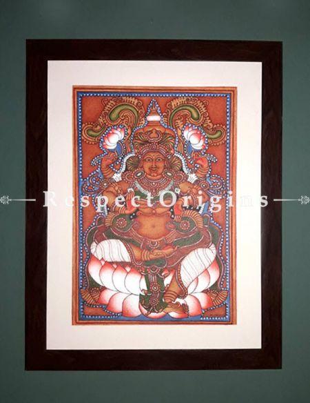 Rajarajeshwari; Goddess Lalitha; Kerala Mural Art; 17x24; Chuvarchithram|RespectOrigins