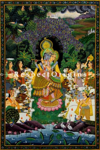 Buy Traditional Pichwai Painting of Yugal Swaroop 25 x 37 inches RespectOrigins