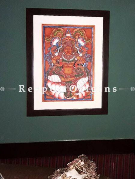 Rajarajeshwari; Goddess Lalitha; Kerala Mural Art Painting; 17x24;