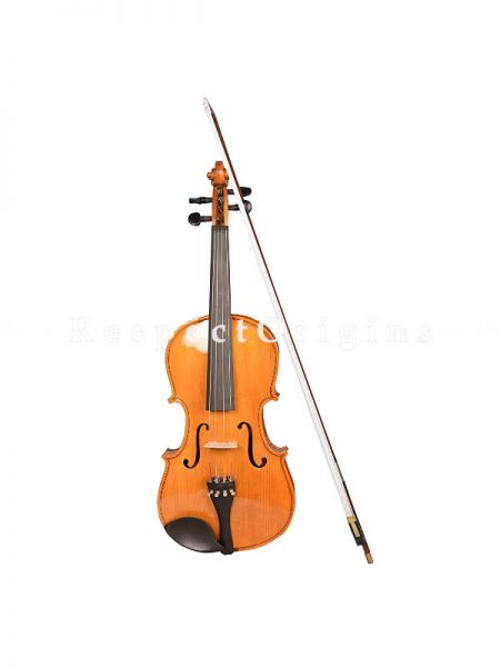 4-Strings Violin with Box; Dark Red; RespectOrigins.com