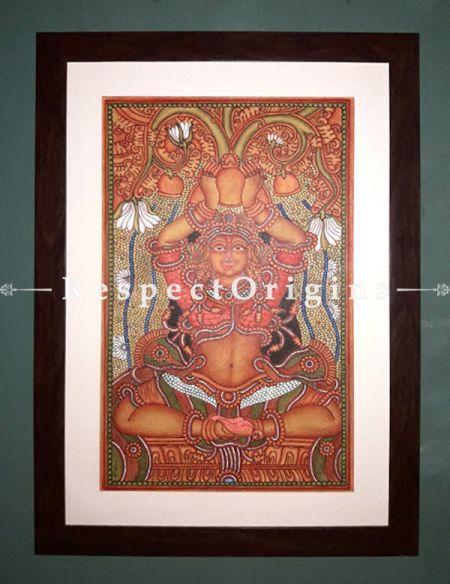 Kubera; God of Wealth; Kerala Mural Art Painting; 16x25; Chuvarchithram|RespectOrigins