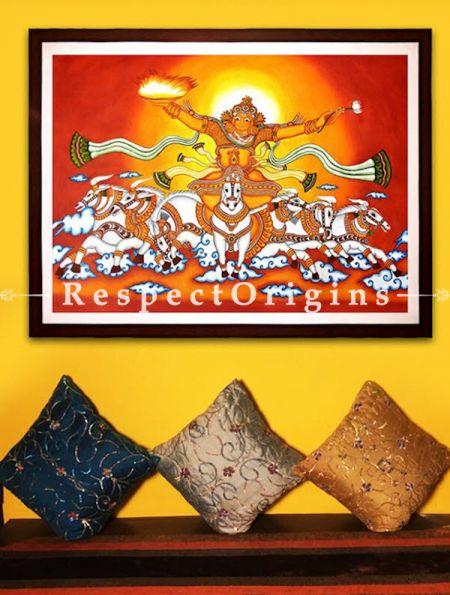 Buy Lord Surya - Lord Surya- Sun God- Painting Kerala Mural Art 42x60;RespectOrigins