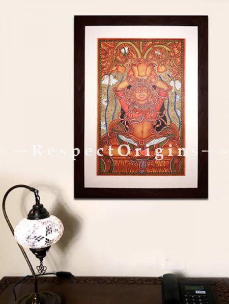 Kubera; God of Wealth; Kerala Mural Art; 16x25; Chuvarchithram