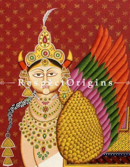 Kaamdenu; Traditional Rajasthani Folk Art Pichwai Painting; 42x61 in