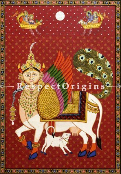 Buy Traditional Rajasthani Pichwai Painting of Kaamdhenu 42 x 61 inches RespectOrigins