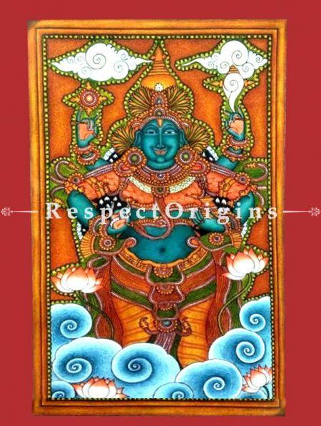 God of Ayurveda; Kerala Mural Art; 15 X 24 inches; Chuvarchithram;RespectOrigins