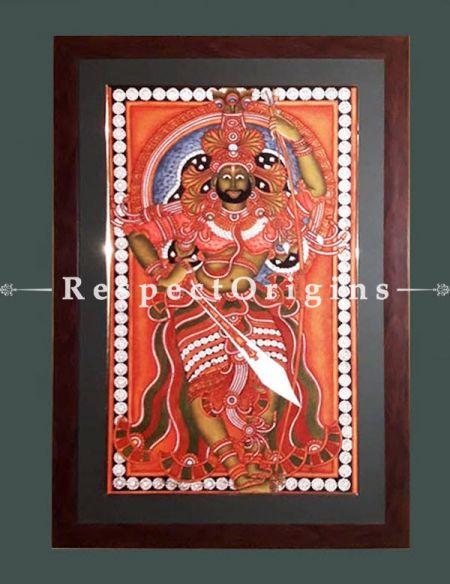 Shiva; Kerala Mural Art in 18x29 inches; Chuvarchithram|RespectOrigins