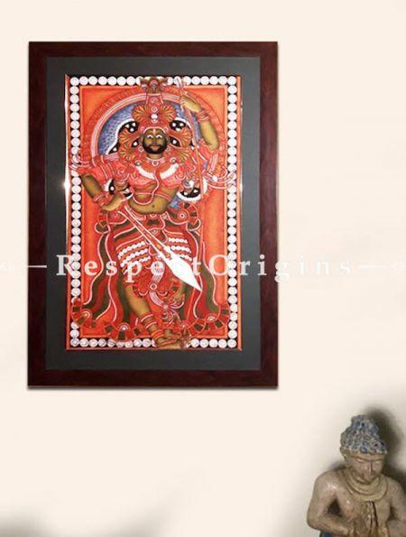 Shiva; Kerala Mural Art Painting in 18x29 in; Chuvarchithram
