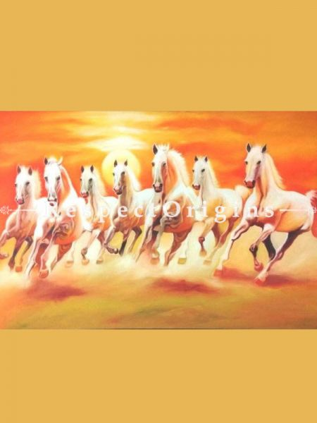 Original art|Fine Art|7 Horses Painting RespectOrigins