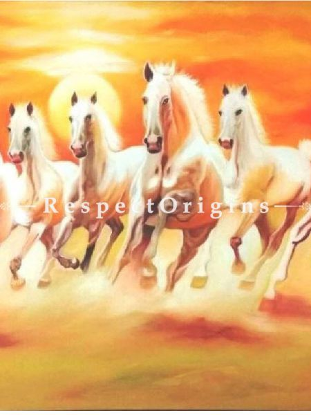 7 Horses, Oil On Canvas - 30In x 36In