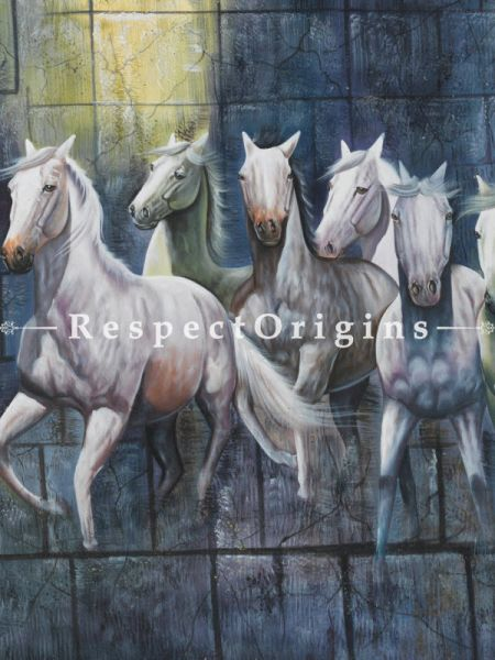 7 Horses Running Painting