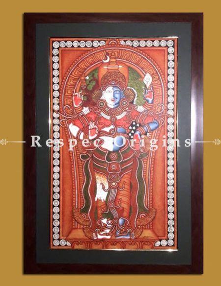 Hari Hara; Shiva & Vishnu; Kerala Mural Art; 18 x 29 inches; Chuvarchithram|RespectOrigins