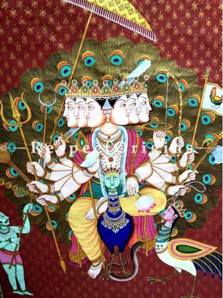 Buy Traditional Pichwai Painting of Lord Murugan 47 x 63 inches RespectOrigins