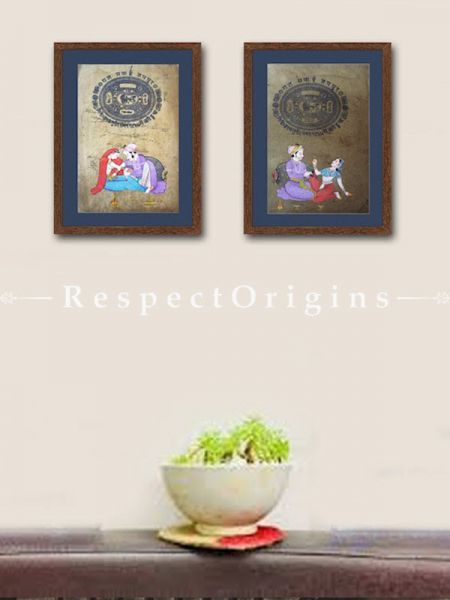 Buy Forever Love; Set of 2; Miniature Painting; Vertical; Traditional Rajasthani Wall Art at RespectOrigins.com