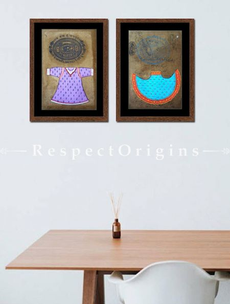 Buy Haute Couture; Set of 2; Miniature Painting; Vertical  Traditional Rajasthani Wall Art at RespectOrigins.com