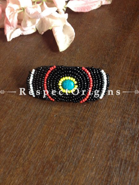 Buy Handmade Black & Red Coral Beads Ladakhi Hair Clips At RespectOrigins.com