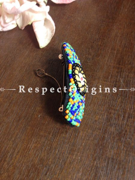 Buy Handmade Green,Yellow & Blue Coral Beads Ladakhi Hair Clips At RespectOrigins.com