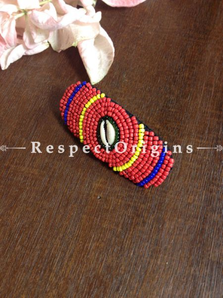 Buy Handmade Red,Yellow & Blue Coral Beads Ladakhi Hair Clips At RespectOrigins.com