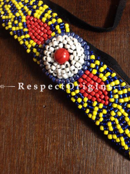Buy Traditional-Ladakhi-Vintage-Pendant-Blue-Beaded-Neck-Piece-M-50171-67617 At RespectOrigins.com