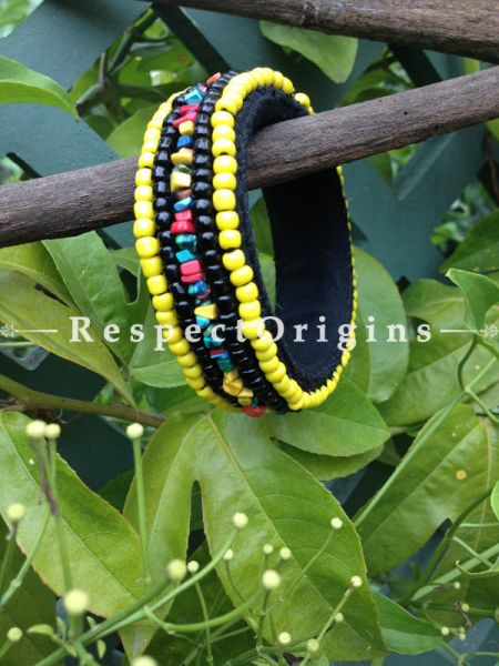 Buy Yellow Beads; Handemade Ladhaki Beaded Bracelet for Women and Girls At RespectOrigins.com